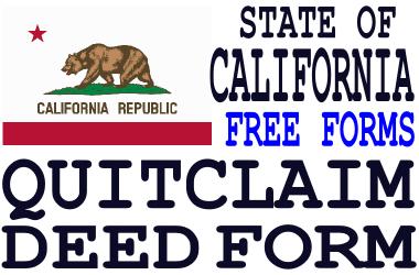 California Quit Claim Deed Form - Q-D-F.com - Get a free quit ...