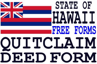 Hawaii Quit Claim Deed Form