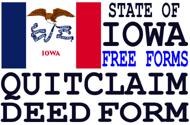 Iowa Quit Claim Deed Form