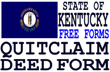 Kentucky Quit Claim Deed Form