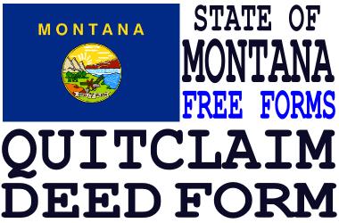 Montana Quit Claim Deed Form
