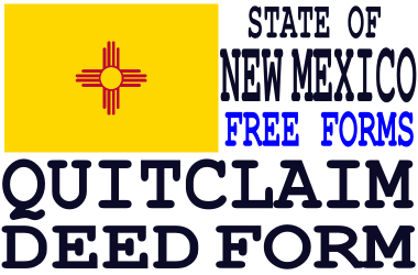 New Mexico Quit Claim Deed Form - Q-D-F.com - Get a free quit ...