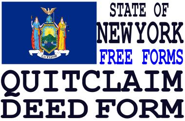 New York Quit Claim Deed Form - Q-D-F.com - Get a free quit claim ...
