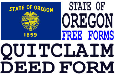 Oregon Quit Claim Deed Form