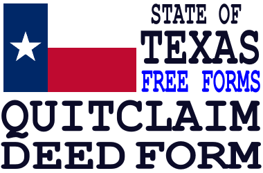 Texas Quit Claim Deed Form