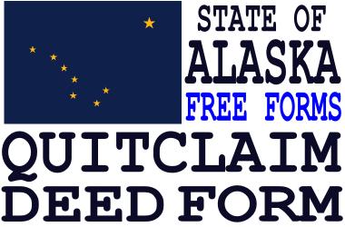 Alaska Quit Claim Deed Form