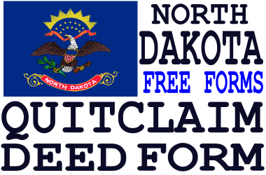 North Dakota Quit Claim Deed Form