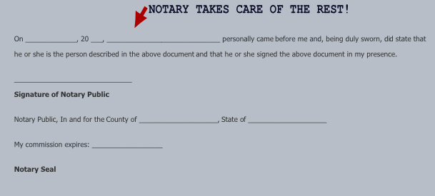 Quit Claim Deed Form Notary Signature