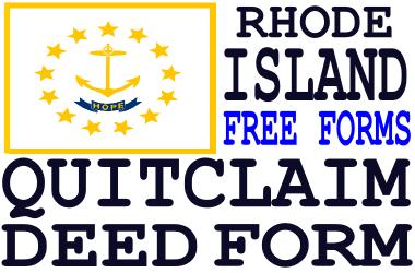 Rhode Island Quit Claim Deed Form